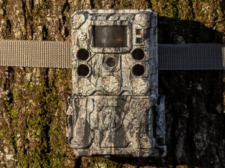 Hunter setting up S-4K Trail Camera