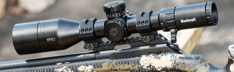 Bushnell Riflescope mounted on rifle