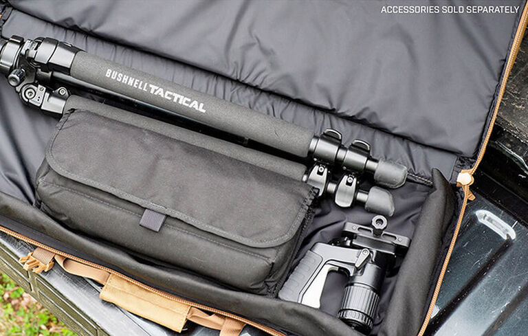 Spotting scope accessories inside of Tactical Tripod Kit Bag