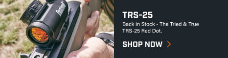 Shooter aiming through TRS-25 Red Dot