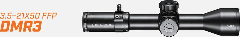 Elite Tactical DMR3 Riflescope on light background