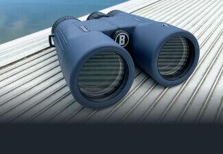 H2O 10x42 Waterproof Binoculars on dock