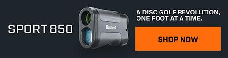 Sport 850 Laser Rangefinder on dark background