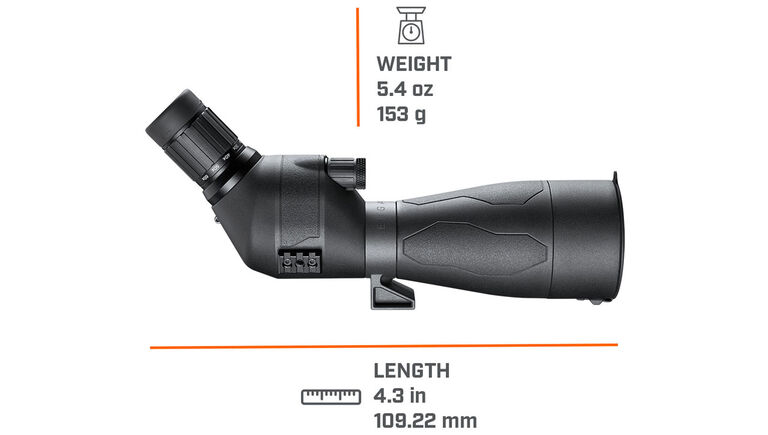 Dimensions of the Bushnell Engage DX Spotting Scope