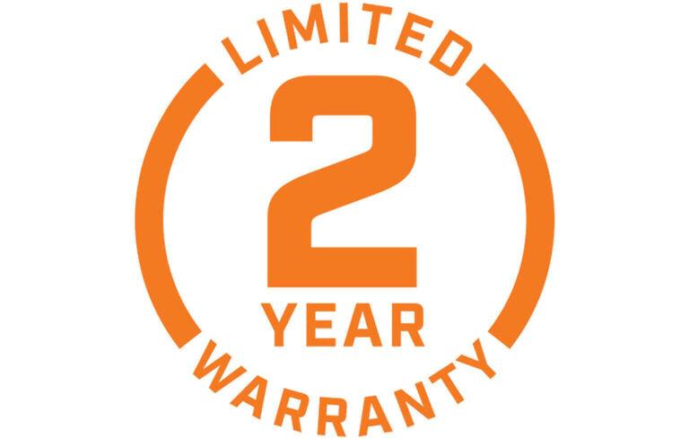 Limited 2 Year Warranty