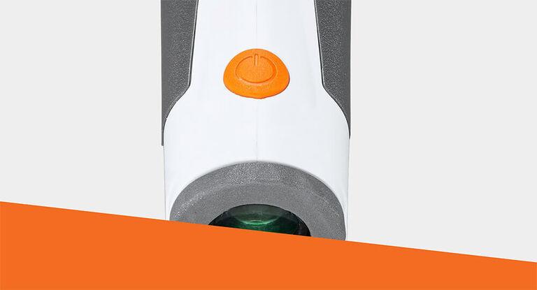 Detail of Edge Disc Golf Rangefinder button