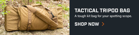 Tactical Tripod Kit Bag placed in the woods
