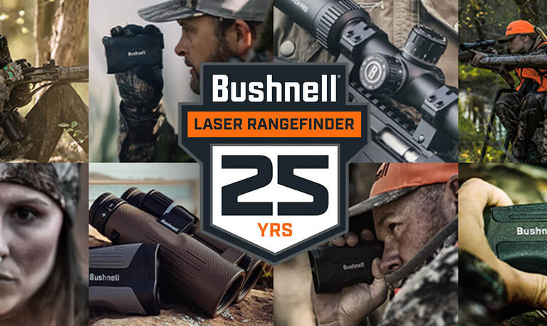 Collage of people using Bushnell Laser Rangefinders
