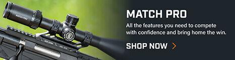 Match Pro Riflescope mounted on rifle