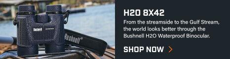 H2O 8x42 Binoculars on top of kayak