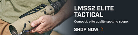 Man holding LMSS2 Spotting Scope