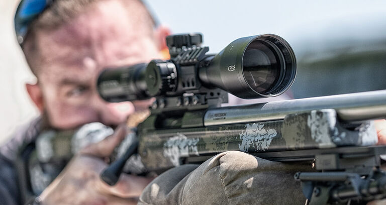 Shooter aiming though XRS3 Riflescope
