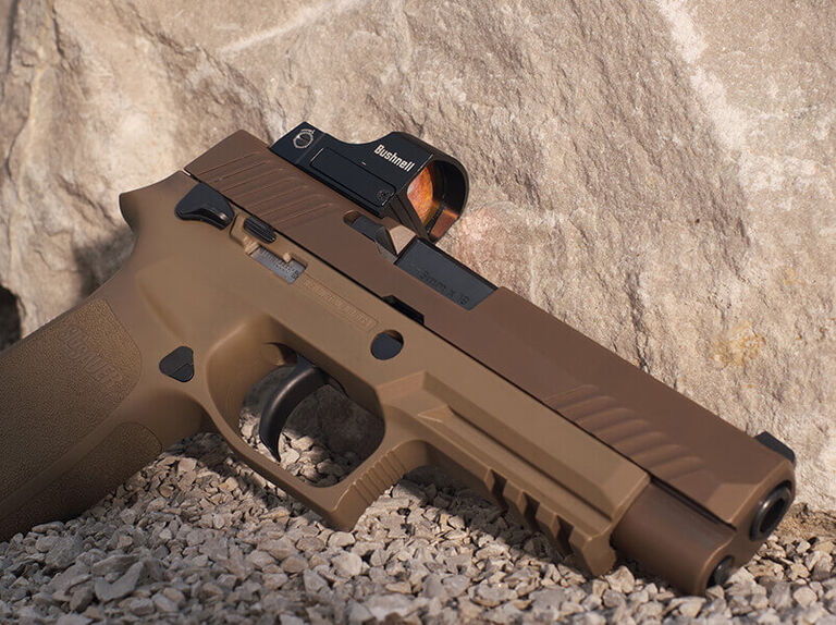 RXS Reflex Sight mounted on pistol