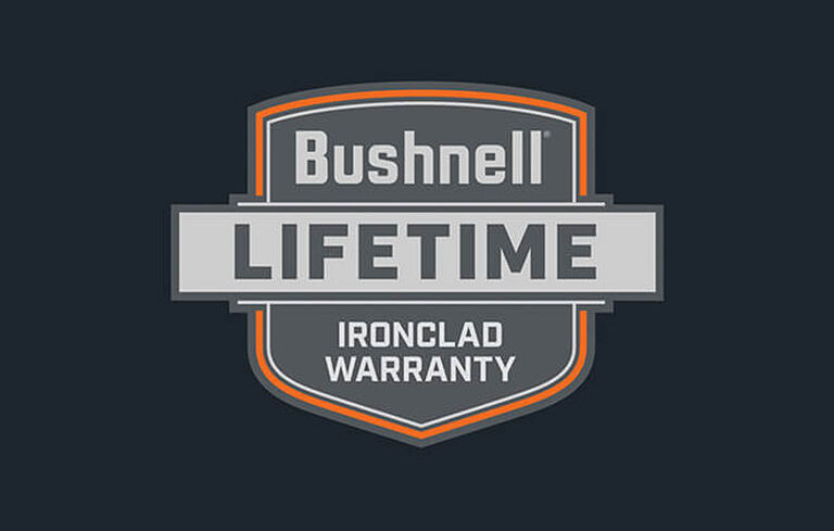 Graphic of Bushnell's Lifetime Ironclad Warranty