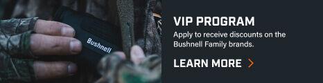 Hunter holding Bushnell Rangefinder