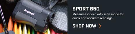 Sport 850 Laser Rangefinder in bag with disc golf equipment