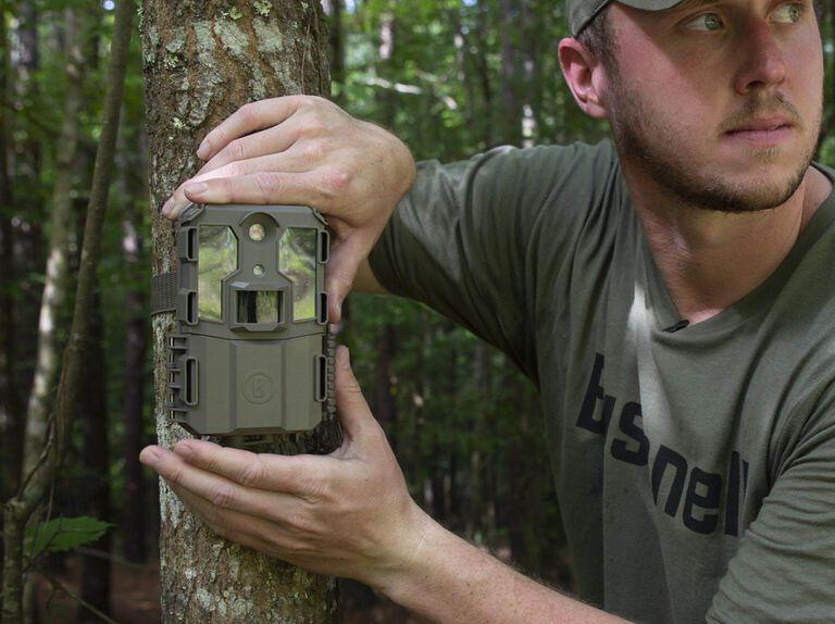 Hunter setting up Prime L20 Trail Camera
