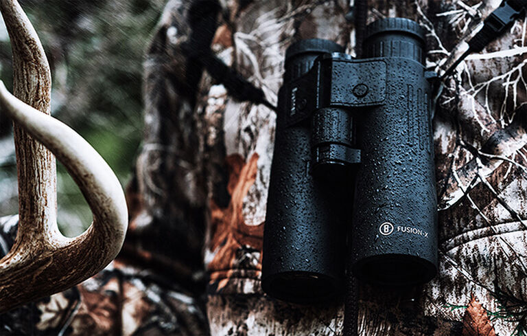 Hunter with Fusion X 10x42 Rangefinding Binoculars