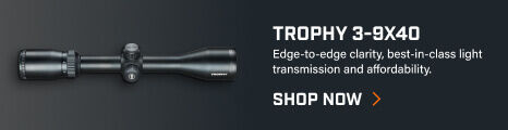 Trophy 3-9x40 Riflescope on dark background