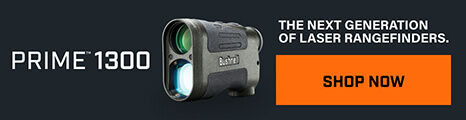 Prime 1300 Laser Rangefinder on dark background