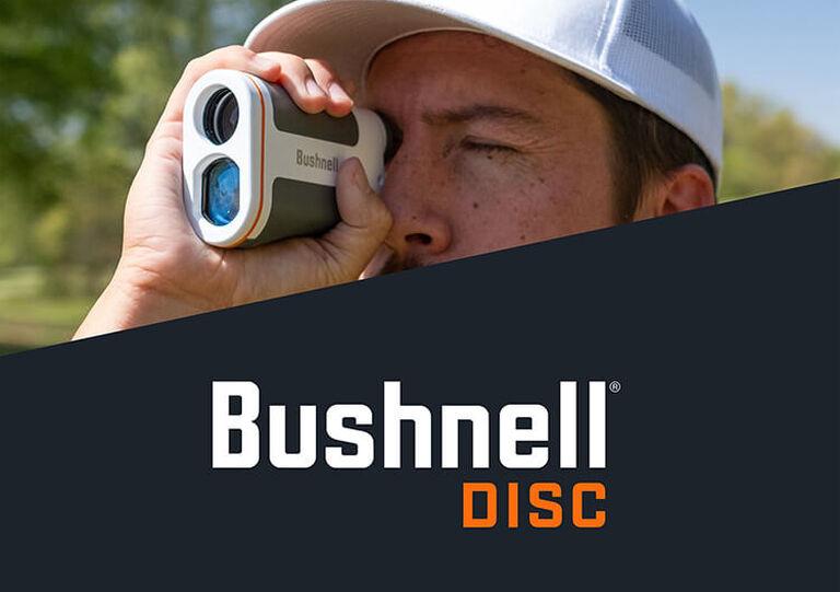 Man using Edge Disc Golf Rangefinder