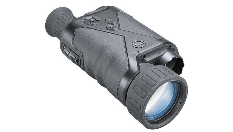 Three quarter view of the Bushnell Equinox Z2 Night Vision Monocular