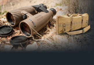 Forge 15x56 Binoculars on rough terrain