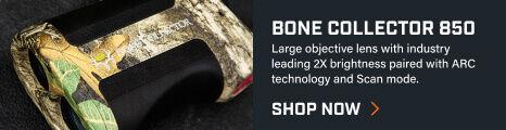 Bone Collector 850 Laser Rangefinder on dark background