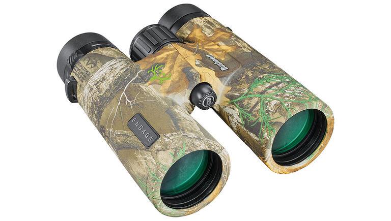 Three quarter view of the Bushnell Engage X Binoculars
