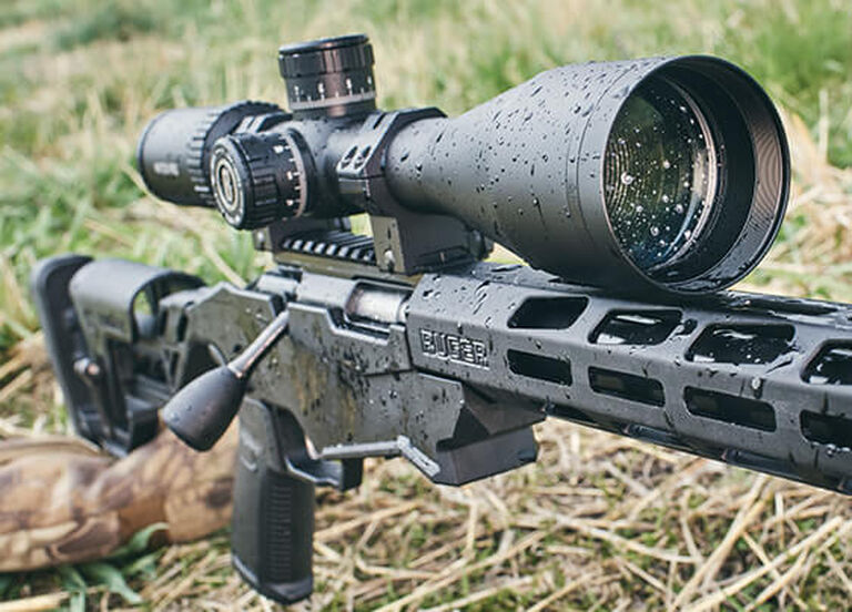 Match Pro Riflescope mounted on rifle