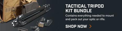Tactical Tripod Kit Bundle on dark background