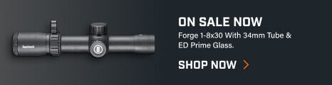 Forge 1-8x30 Riflescope on dark background