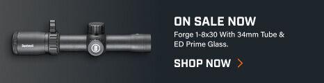 Forge 1-8x30 Riflescope on dark background