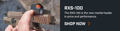 Shooter adjusting RXS-100 Reflex Sight