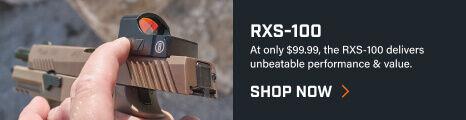 Shooter adjusting RXS-100 Reflex Sight