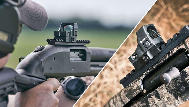 Bushnell RXS-250 Reflex Sight mounted on a shotgun