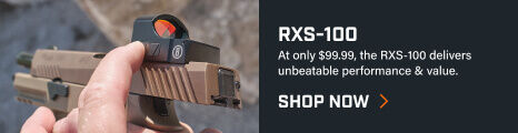 RXS-100 Reflex Sight mounted on pistol