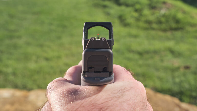 1st person perspective view through the Bushnell RXS-250 Reflex Sight