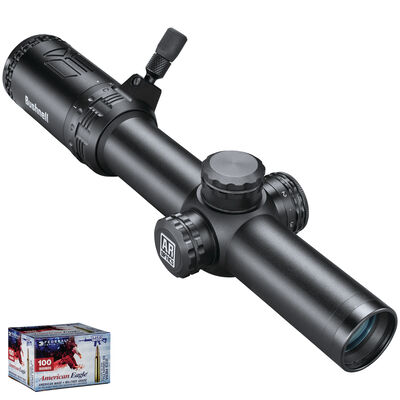 AR Optics 1-6x24 Illuminated Riflescope & American Eagle .223 Bundle