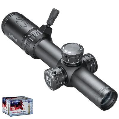 AR Optics 1-4x24 Illuminated FFP Riflescope & American Eagle .223 Bundle
