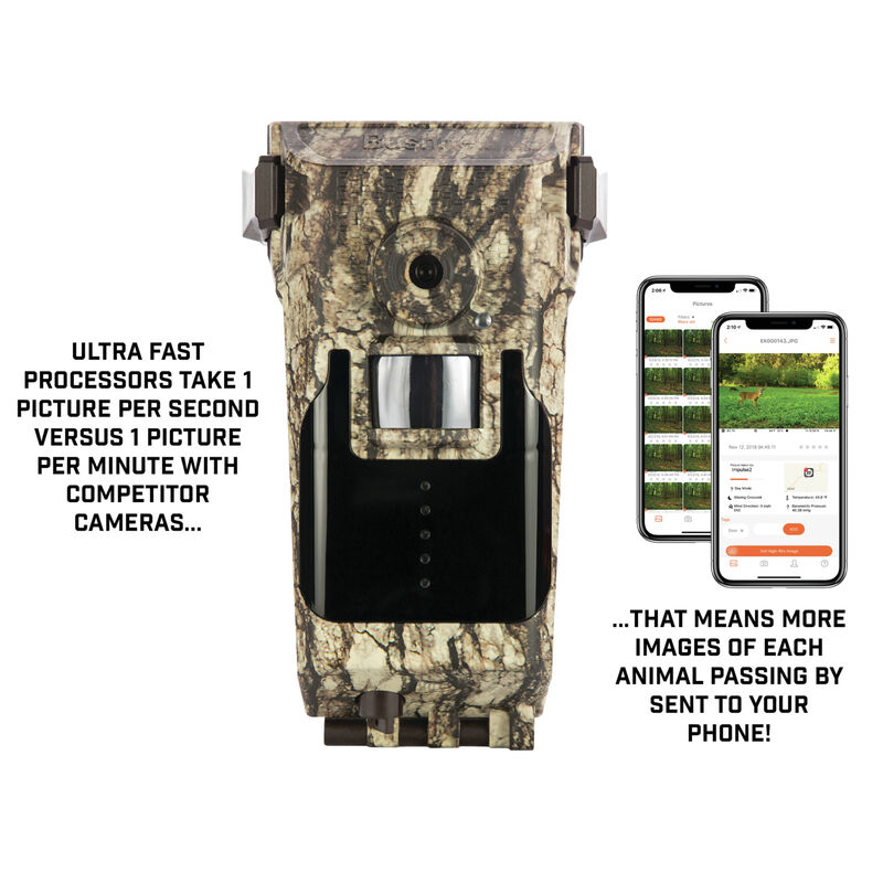 Tree Bark Bushnell 119900A Impulse 20MP Cellular and GPS No Glow Trail Camera