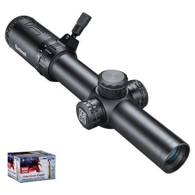AR Optics 1-8x24 Illuminated Riflescope & American Eagle .223 Bundle
