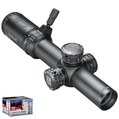 AR Optics 1-4x24 Illuminated FFP Riflescope & American Eagle .223 Bundle